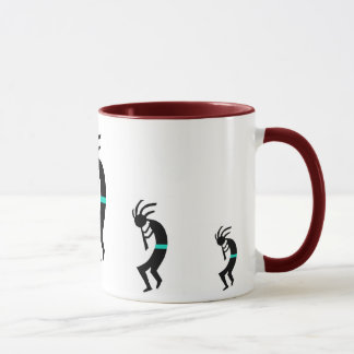 Kokopelli Mug -- Native American Flute Player