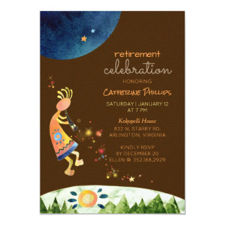 Kokopelli Music for Retirement Party Card