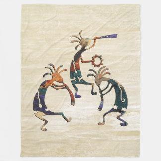 KOKOPELLI musician trio + your ideas Fleece Blanket