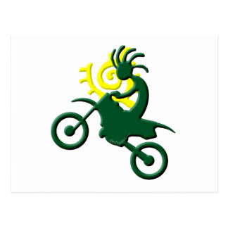 Kokopelli Native American Dirt Bike Postcard