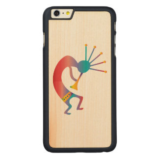 Kokopelli, Native American Flute Player Carved Maple iPhone 6 Plus Case