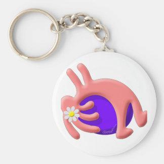 Kokopelli Native American Pilates Basic Round Button Keychain