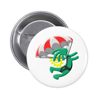 Kokopelli Native American Skydiver Pinback Buttons