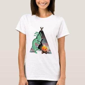 Kokopelli Native American Tipi Camping T-Shirt