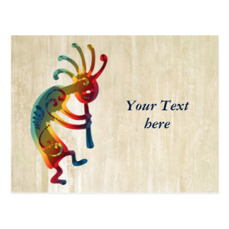 KOKOPELLI ornaments + your ideas Postcard