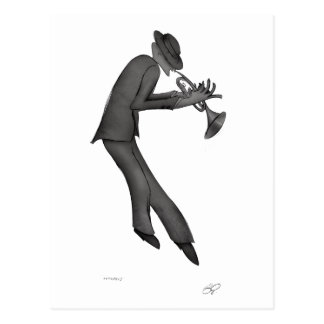 Kokopelli Plays the Blues art Postcard