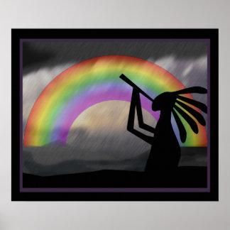 Kokopelli Rainbow Print