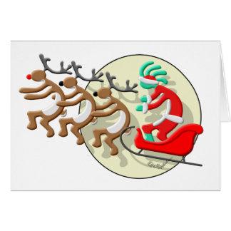 Kokopelli Santa Clause Card