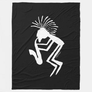 Kokopelli Saxaphone Player Petroglyph Fleece Blanket