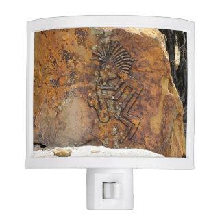 Kokopelli Saxaphone Player Petroglyph Nite Lights