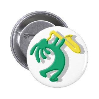 Kokopelli Saxophone Buttons