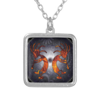 kokopelli silver plated necklace