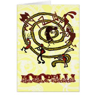Kokopelli & Spiral - Greeting Card #1