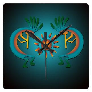 Kokopelli Sun Southwest Clock