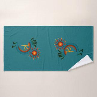 Kokopelli Sun Southwest   Turquoise Towel Set