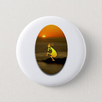 Kokopelli Sunset #2 2 Inch Round Button