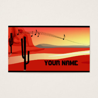 Kokopelli Sunset Business Card