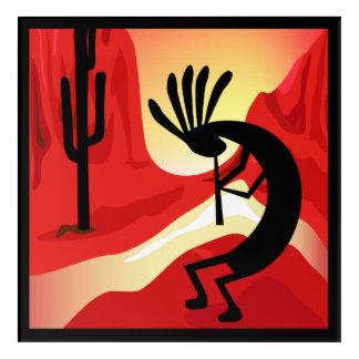 Kokopelli Sunset Landscape Southwest Acrylic 2 Acrylic Print