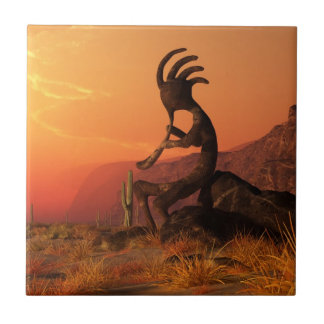 Kokopelli Sunset Tile