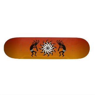Kokopelli Tribal Sun Ombre Sunset Skate Board Deck