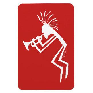 Kokopelli Trumpet Player Petroglyph Magnet