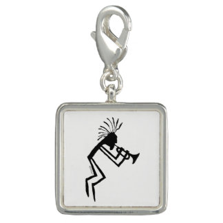 Kokopelli Trumpet Player Petroglyph Photo Charms