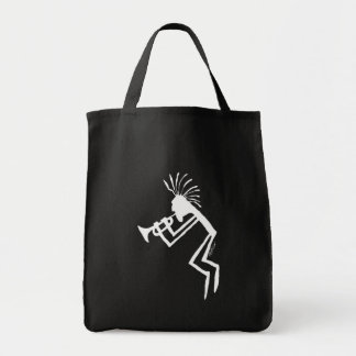 Kokopelli Trumpet Player Petroglyph Tote Bag
