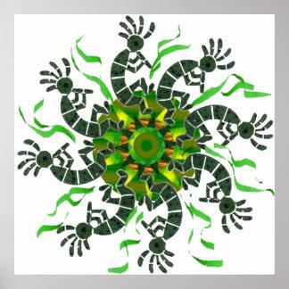 Kokopelli Wheel Print