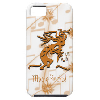 Kokopelli With Musical Notes Artwork Case For The iPhone 5