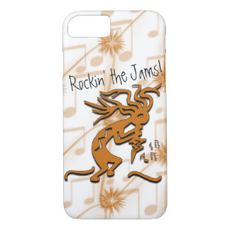 Kokopelli With Musical Notes Artwork iPhone 7 Case