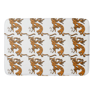 Kokopelli With Musical Notes Facing Left Bath Mat