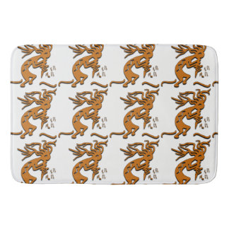 Kokopelli With Musical Notes Facing Right Bath Mat