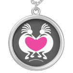 Kokopelli with pink heart Valentine's day