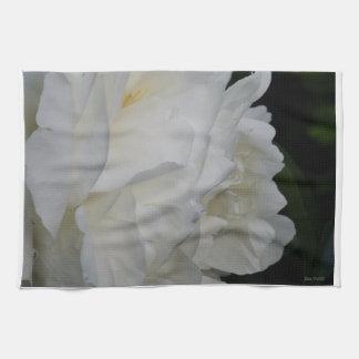 Kökshadnduk white rose kitchen towel