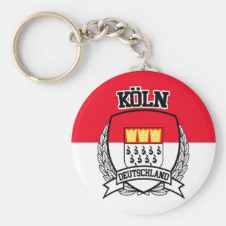 Köln Basic Round Button Keychain