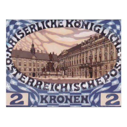Koloman Moser- Design for Austrian jubilee stamp Postcard