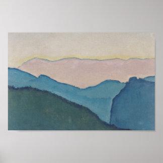 Koloman Moser- Mountain ranges Poster