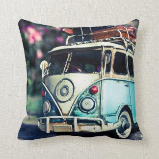 kombi blue throw pillow