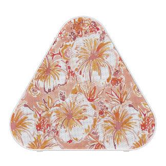 KOMBUCHA-CHA Peach Tropical Hibiscus Pattern Blueooth Speaker