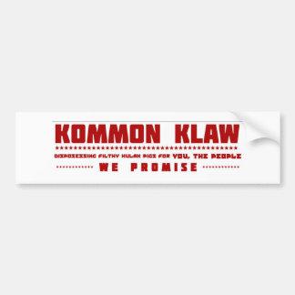 Kommon Klaw red Bumper Sticker