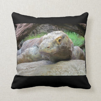 Komodo Dragon Drama Pose Throw Pillow