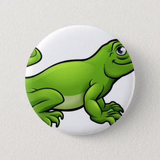 Komodo Dragon Lizard Cartoon Character 2 Inch Round Button