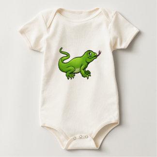 Komodo Dragon Lizard Cartoon Character Baby Bodysuit