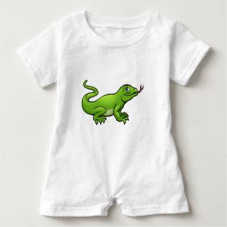 Komodo Dragon Lizard Cartoon Character Baby Romper