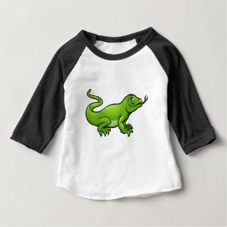 Komodo Dragon Lizard Cartoon Character Baby T-Shirt