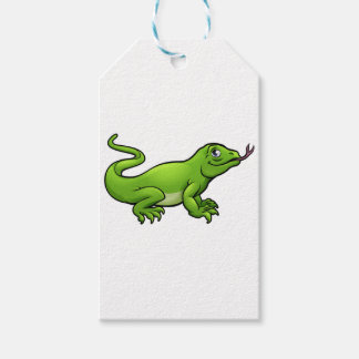 Komodo Dragon Lizard Cartoon Character Gift Tags