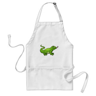 Komodo Dragon Lizard Cartoon Character Standard Apron
