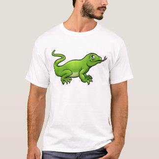 Komodo Dragon Lizard Cartoon Character T-Shirt