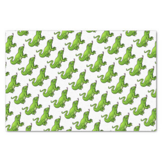 Komodo Dragon Lizard Cartoon Character Tissue Paper
