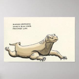 komodo dragon trivia poster
